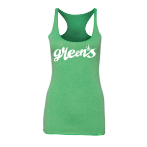 greensbrand-girls-script-design-green-tanktop-front