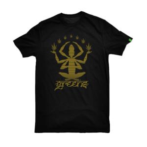 greensbrand Meditate design black t-shirt