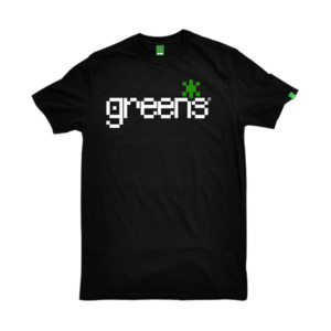 greensbrand pixels design black t-shirt