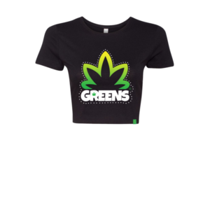 greens®brand-girls-bushy-black-crop-top